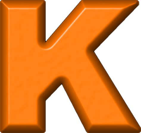 College With Letter K Presentation Alphabets Orange Refrigerator Magnet K