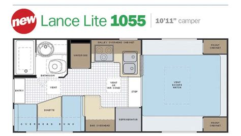 lance rv floor plans slide in truck cers by lance cer manufacturer