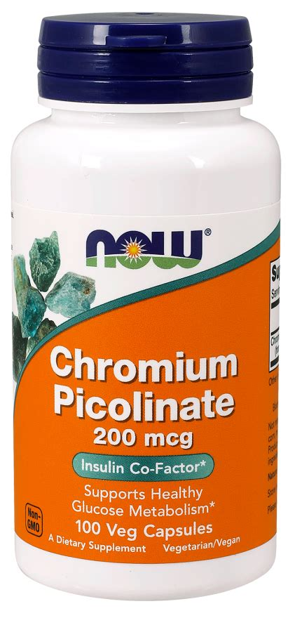 Chromium Picolinate Detox Liver by Chromium Picolinate 200 Mcg Veg Capsules Now Foods