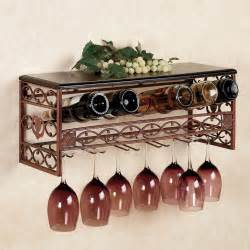 vicenza metal wine and stemware wall rack