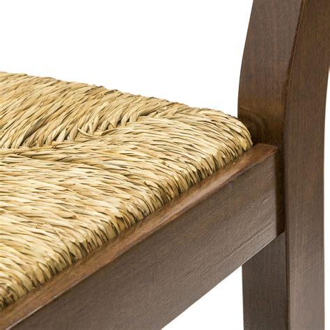 sgabelli country sgabello country in legno color noce con seduta in paglia