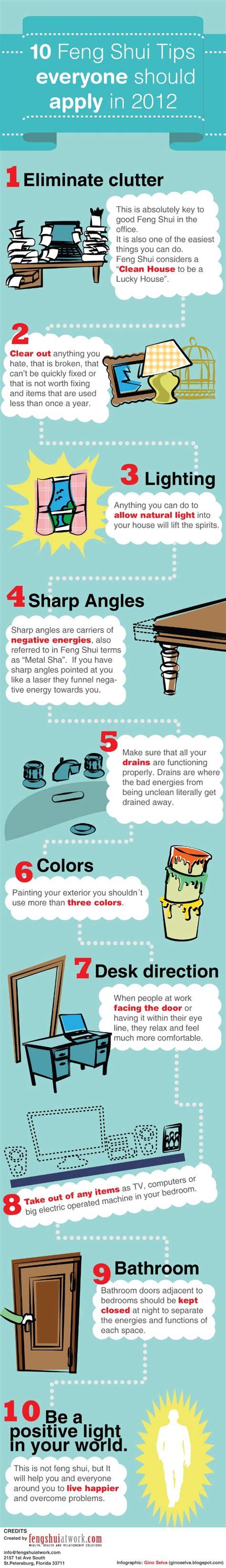 feng shui guide 10 feng shui tips daily infographic