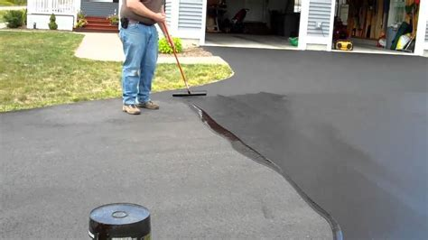 How To Seal An Asphalt Driveway   YouTube