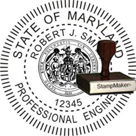 official rubber st official maryland engineer st seal 28 images maryland