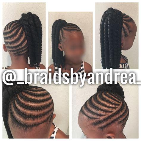 crochet ponytail hairstyles kids ponytail crochet twists little girls pinterest