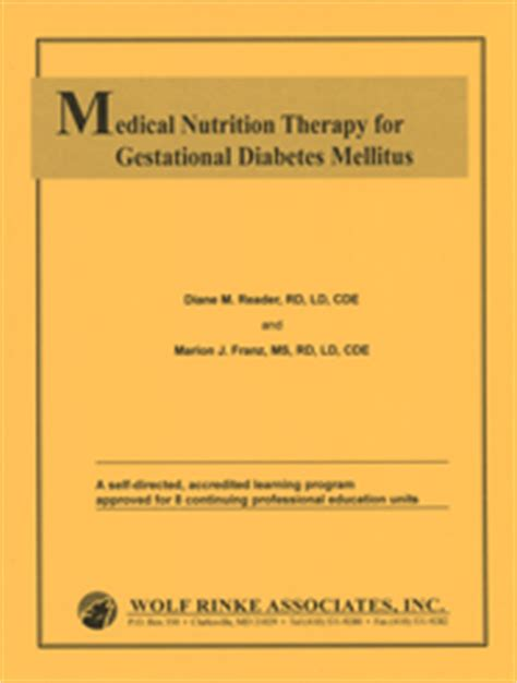 Medical Nutrition Therapy For Gestational Diabetes