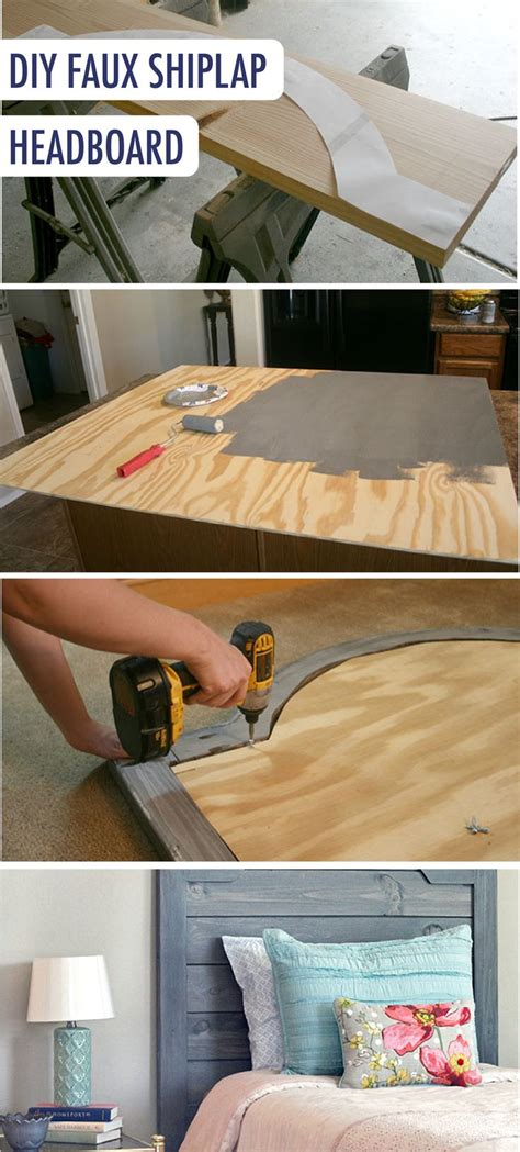 diy faux headboard 25 best ideas about plywood headboard diy on pinterest