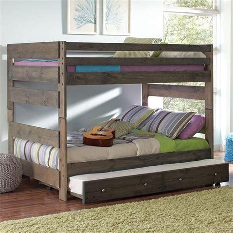 wrangle hill full  full bunk bed  trundle gun smoke coaster furniture furniture cart