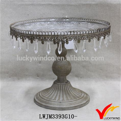 shabby chic cake stand with crystals shabby chic metal cake stand with hanging crystals buy