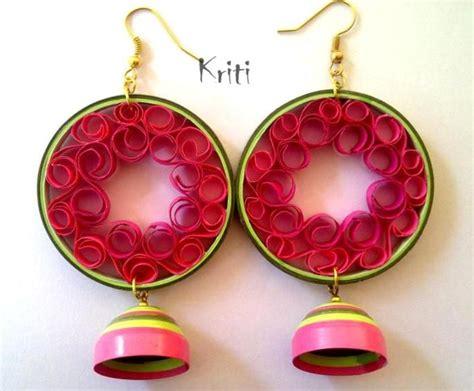 quilling paper earrings jhumkas tutorial paper quilling jhumka designs by kriti handmade jewelry