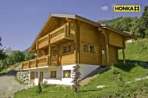 honka chalet en bois de montagne suisse suisse haute