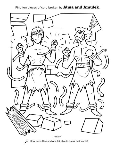 Primarily Inclined Primary 4 Lesson 15 Alma And Amulek S Book Of Mormon Coloring Pages