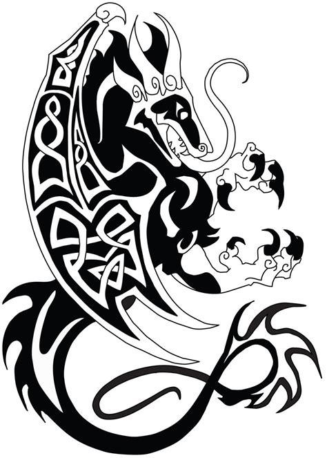 celtic dragon clipart best