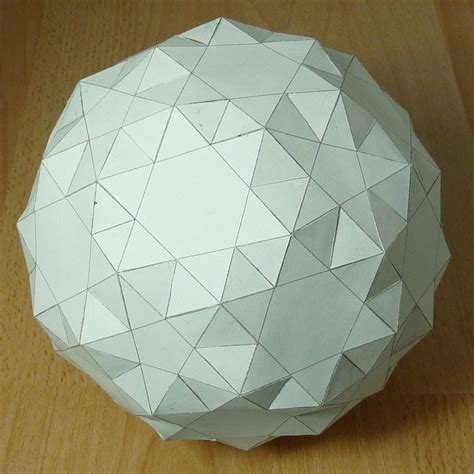 Paper Snub Dodecahedron - paper small snub icosicosidodecahedron
