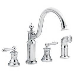 moen 2 handle kitchen faucet repair waterhill chrome two handle high arc kitchen faucet s712