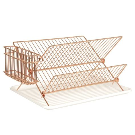 Wall Hang Dish Rack copper wire dish rack metal dish drainer