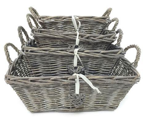 shabby chic storage baskets white grey strong shabby chic kitchen baby nursery