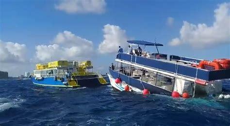 catamaran hundido en cozumel catamar 225 n con turistas a punto de naufragio en cozumel
