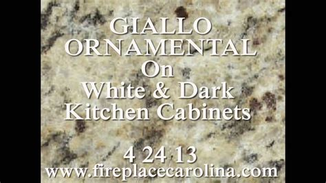 Colors For Kitchens With Light Cabinets by Granite Countertops Installed Giallo Ornamental On Dark