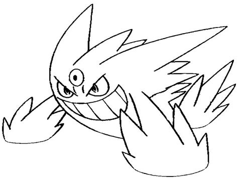 pokemon coloring pages houndoom gengar coloring pages page mega evolved pokemon grig3 org