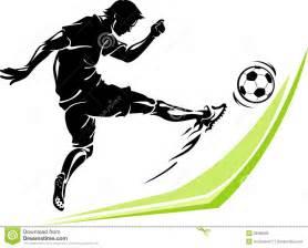 coup de pied de puissance de footballeur illustration