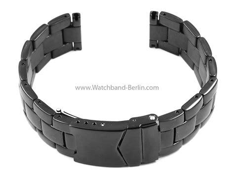 Edelstahl Polieren Berlin by Edelstahl Metall Uhrenarmband Massiv Schwarz 20 22 24mm