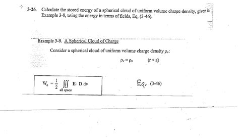 calculate the amount of energy stored in the capacitor calculate the stored energy of a spherical cloud chegg