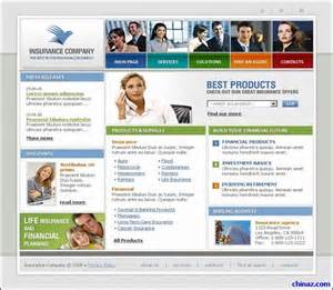 insurance company template insurance company website template millions vectors