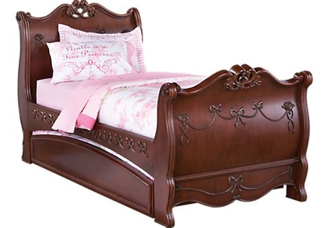 Disney Princess Sleigh Bedroom Set by Disney Princess Cherry 4 Pc Sleigh Bed W Trundle