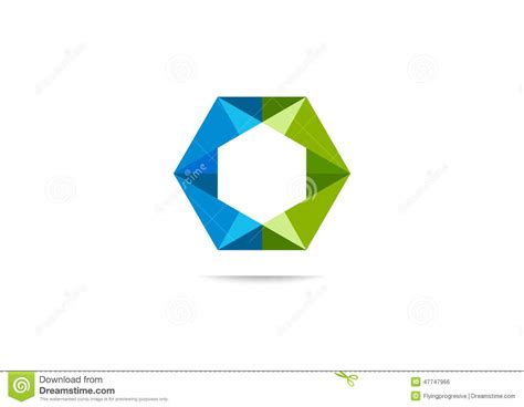corporate logo templates cube corporate logo design stock illustration image