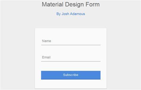material design form html creative css form designs themelabs