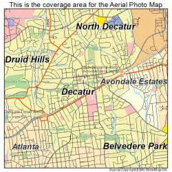 aerial photography map of decatur ga