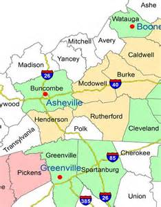 carolina wall map western carolina asheville and upstate south carolina