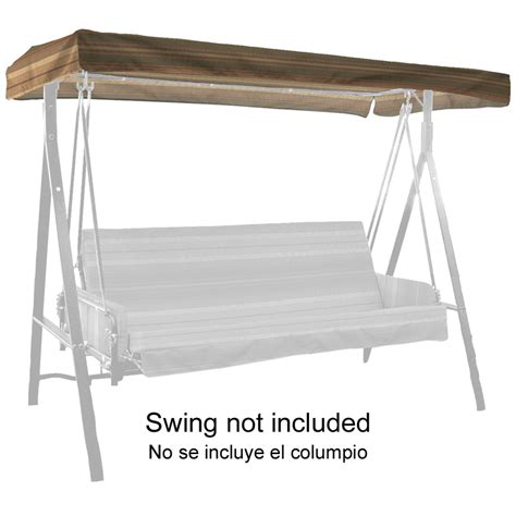 glider swing canopy replacement shop stripe green 3 person replacement top for porch swing