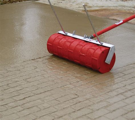 concrete pattern roller hire marshalltown company rock n roller in concrete equipment