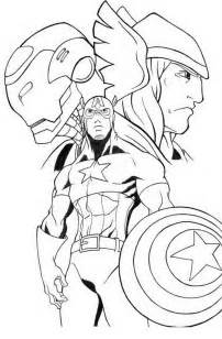 avengers thor coloring pages getcoloringpages