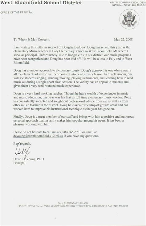 College Letter Of Reference letter of recommendation template teachermemo templates