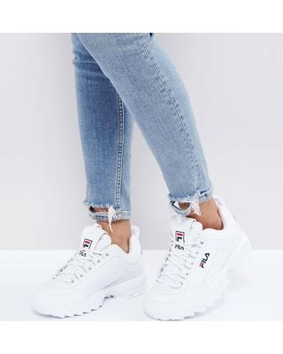 Fila Disruptor In White amazing deal on fila disruptor low sneakers in white white