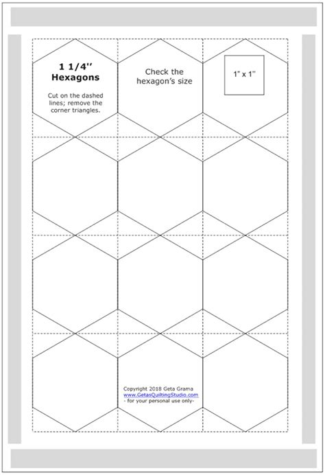 free paper piecing hexagon templates and easy way to cut hexagon templates for