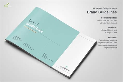 70 Modern Corporate Brochure Templates Design Shack Social Media Brand Guidelines Template