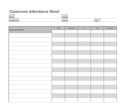38 Free Printable Attendance Sheet Templates Free Template Downloads Attendance Sheet Template