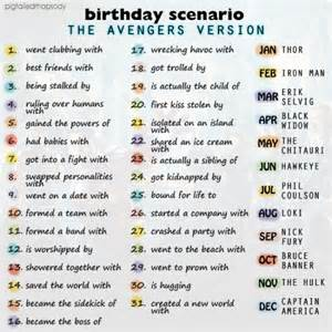 To silly things the birthday scenario avengers style tumblr