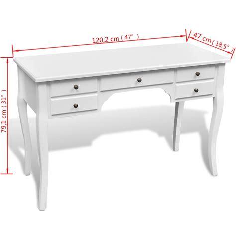 scrivania in francese vidaxl scrivania in stile francese in legno con gambe