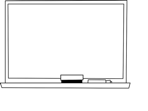 White And Black Board by Black And White Board Clip Sketch Coloring Page
