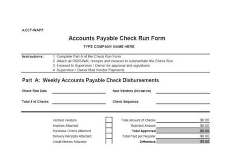 accounts payable manual template procedures for small business checklist