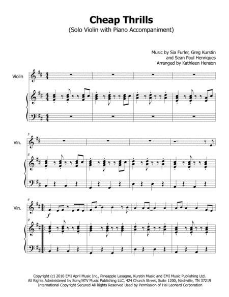 Cheap Thrills For Solo Violin Sheet Music PDF Download