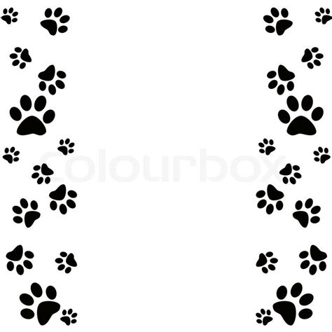 printable dog stationery paw clipart frame pencil and in color paw clipart frame