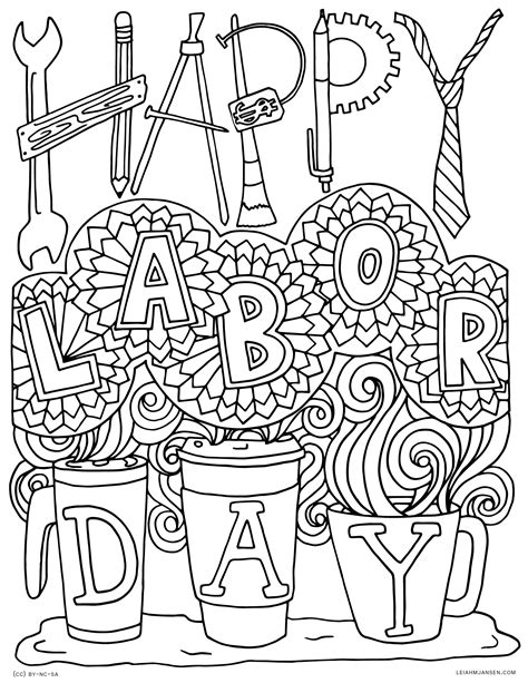 printable coloring pages for labor day coloring pages