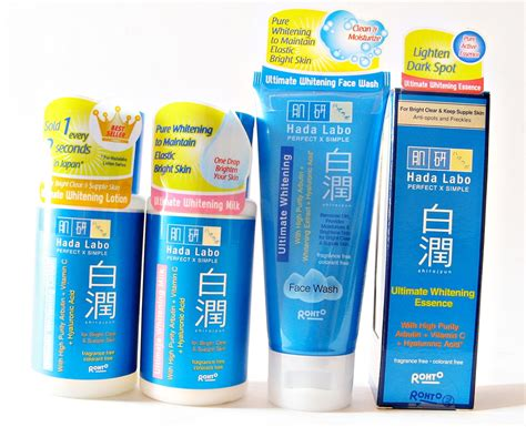 Krim Pemutih Hada Labo review hada labo shirojyun ultimate whitening series