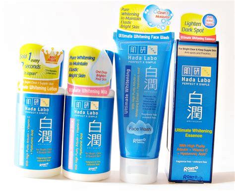 review hada labo shirojyun ultimate whitening series